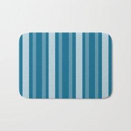 Dark Cerulean Victorian Lady Stripe Bath Mat