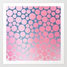 Pastel Polka Dots 2 Art Print