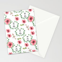 'Not Your Babe' floral print Stationery Cards