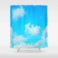 clouds Shower Curtains featuring Clouds by 2sweet4words Designs