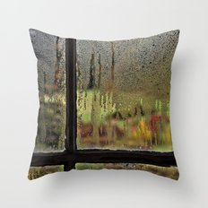 Droplet Landscape III Throw Pillow