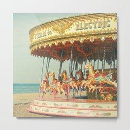 Seaside Carousel Metal Print