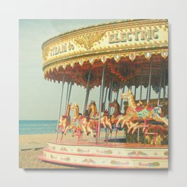 Seaside Carousel Metal Print