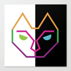 Abstract Multicolored Cat Canvas Print