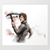 daryl dixon Art Prints featuring Daryl Dixon by Ira Ischwara