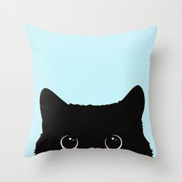 Black cat I Throw Pillow