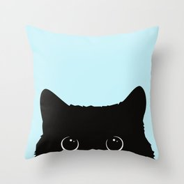 Black cat I Throw Pillow