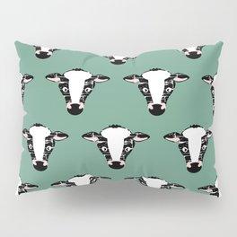 Cute Cow Face pattern Pillow Sham