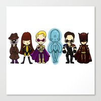 watchmen Canvas Prints featuring watchmen by Space Bat designs