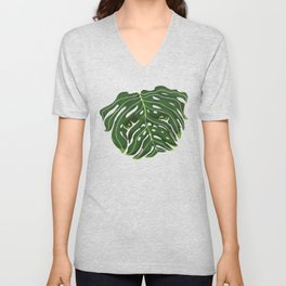 Monstera Pug Unisex V-Neck