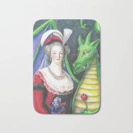 Marie Antoinette and the Dragon Bath Mat