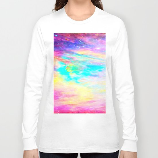 Abstract Galaxy : Bright & Colorful Long Sleeve T-shirt