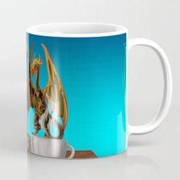 Hot Coffee with Bonsai and Fire Dragons Coffee Mug