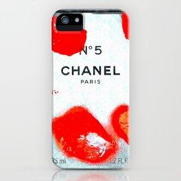 No 5 Red Splash iPhone Case