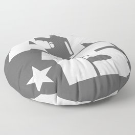 AR-15 (Gunmetal/White) Floor Pillow