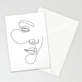 s'14 - single line drawing Stationery Cards