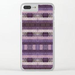 Quilt Top - Antique Twist Clear iPhone Case