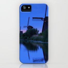 Blue Evening Near The Windmils iPhone Case