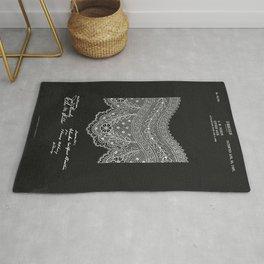Antique Patent for Lace Textiles Rug