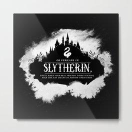 Slytherin B&W Metal Print