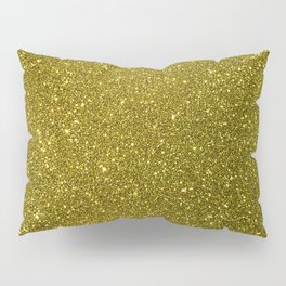Classic Bright Sparkly Gold Glitter Pillow Sham