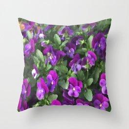 Botanical Florals Zencolor2 Throw Pillow