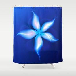 La Fleur Magique de la Sorcière Fractal Shower Curtain