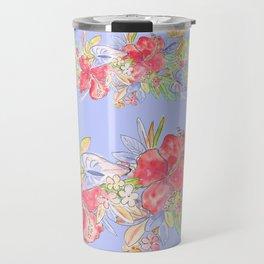 tropical hawaiian flowers periwinkle Travel Mug
