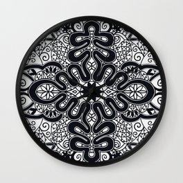 Elegant Black and White Wall Clock