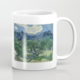 Vincent van Gogh - Olive Trees in a Mountainous Landscape Coffee Mug