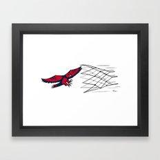 Hawks vs Nets Framed Art Print