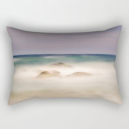 """Windy sea"". Mediterranean sea at sunset. Rectangular Pillow"
