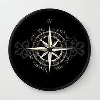 gondor Wall Clocks featuring Not all those who wander are lost - J.R.R Tolkien by Augustinet