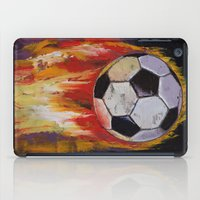 soccer iPad Cases featuring Soccer by Michael Creese