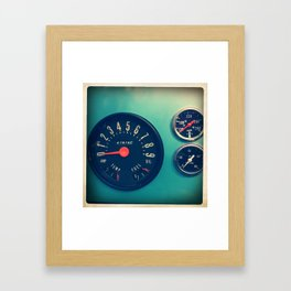 DASHBOARD Framed Art Print