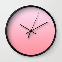 Pastel Ombre Lilac Millennial Pink Gradient Pattern Wall Clock