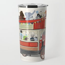 the big red party bus Travel Mug