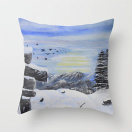 Inukshuk Throw Pillow