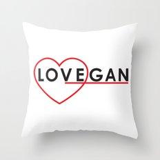 LOVEGAN (Love Vegan) Throw Pillow