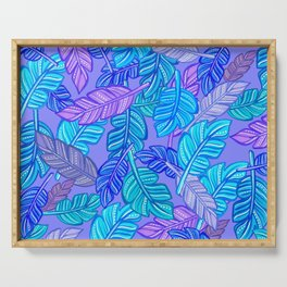 Gouache feather cool pattern Serving Tray