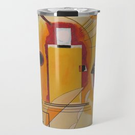 Wassily Study Repro yellow red blue 1925  Travel Mug