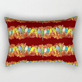 Colorful budgies pattern Rectangular Pillow
