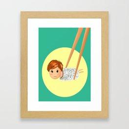 Sushi boy Framed Art Print