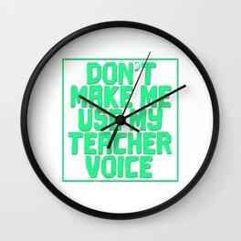 Best Teacher teaching 10th school love children teach Tshirt Wall Clock