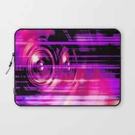 Purple music speakers Laptop Sleeve