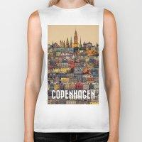 copenhagen Biker Tanks featuring Copenhagen Facades by Siddharth Dasari