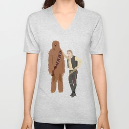 Han Solo and Chewbacca Unisex V-Neck