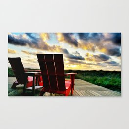 50 Yard Line Seats on Manzanita Beach Canvas Print