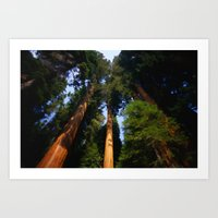 giants Art Prints featuring Giants by Tami Cudahy