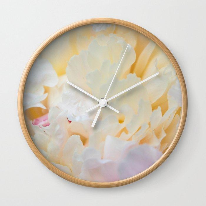 Lush Peony Wall Clock